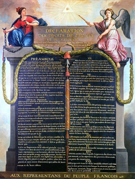 Declarația drepturilor omului și ale cetățeanului - 26 august 1789 (Declaration of the Rights of Man and of the Citizen, painted by Jean-Jacques-François Le Barbier)  -  foto preluat de pe ro.wikipedia.org