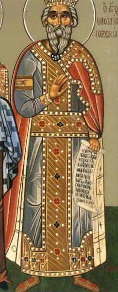 Iezechia (Ezechia în unele traduceri)(715-687 î.Hr) a fost fiul lui Ahaz şi al lui Abia (fata lui Zaharia), împărat al lui Iuda în sec VIII-VII. Şi-a pus nădejdea (încrederea) în Domnul aşa cum n-a făcut-o până la el şi nu o va face nici după el vreun împărat al lui Iuda.[1] În cei 29 de ani de domnie a restabilit credinţa adevărată şi puternică în Dumnezeu prin nimicirea idolatriei, ţinerea sărbătorilor şi prin respectarea tuturor regulilor legii lui Moise. Intrat în conflict cu împăratul asirienilor, puternicul, batjocoritorul şi vicleanul Sanherib, Ezechia beneficiază de ajutorul nemijlocit al lui Dumnezeu care nimiceşte fără luptă, printr-un înger, o mare parte din armata acestuia. Acţiunea îngerului a luat forma unei plăgi (Britannica, Encarta), Herodot spunând că a fost vorba de o plagă cauzată de şoarecii de câmp.(Encarta 2006) Sanherib se întoarce în Asiria, unde este ucis chiar de fiii săi. Ezechia se îmbolnăveşte de moarte dar, rugându-se la Dumnezeu, capătă de la acesta vindecare şi prelungirea vieţii cu 15 ani. Părăsit de Dumnezeu care vroia să-l încerce, el devine îngâmfat şi se fuduleşte cu bogăţiile sale unor soli babilonieni. Isaia îi prooroceşte unele nenorociri, Ezechia se smereşte din mândria sa împreună cu locuitorii Ierusalimului şi face ca mânia Domnului să nu vină peste el în timpul vieţii sale. A făcut unele lucrări practice de aducerea apelor în cetatea Ierusalimului. Isaia a fost proorocul care l-a sfătuit şi pe care l-a ascultat. Domnia sa este evocată în Cartea a patra a regilor cap.18-20 şi Cartea a II-a a Cronicilor, cap 29-32. Biserica Ortodoxă îi face prăznuirea pe 28 august - foto: doxologia.ro