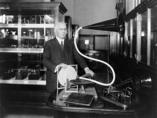 Emile Berliner or Emil Berliner (May 20, 1851 – August 3, 1929) was an American inventor. He is best known for developing the disc record gramophone - foto - cersipamantromanesc.wordpress.com