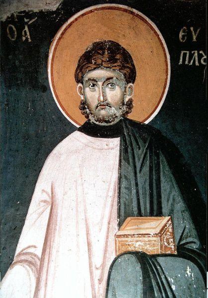 Sfântul Mare Mucenic Evplu, Arhidiaconul. Prăznuirea sa de către Biserica Ortodoxă se face la data de 11 august - foto: doxologia.ro