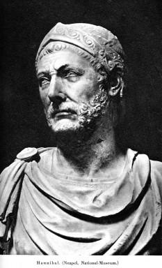 Hannibal (247 – 183/182/181 î.Hr.) om de stat și general cartaginez, considerat unul dintre cei mai străluciți comandanți militari din istorie și unul dintre cei mai mari dușmani ai Republicii Romane - foto - ro.wikipedia.org