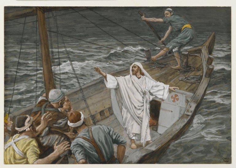 """Iisus potolind furtuna"" (Jésus calmant la tempête) - James Tissot - Muzeul Brooklyn - foto: ro.wikipedia.org"