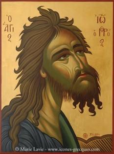 Sfântul Ioan, Inaintemergatorul si Botezatorul Domnului - foto - icones-grecques.com