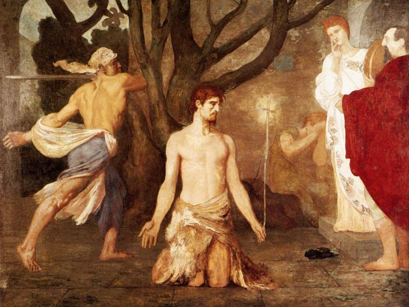 """The Beheading of St John the Baptist"", Puvis de Chavannes, c. 1869 - foto preluat de pe en.wikipedia.org"