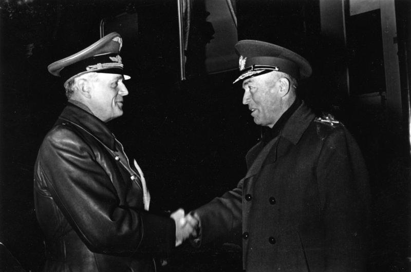Ion Antonescu și Joachim von Ribbentrop, ianuarie 1943 - foto preluat de pe ro.wikipedia.org