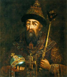 """Ivan al IV-lea, numit și Ivan cel Groaznic, (n. 25 august 1530 - d. 28 martie [S.V. 18 martie] 1584) primul cneaz moscovit care s-a intitulat """"țar"""" - foto (Portret al lui Ivan IV, secolul al XVIII-lea, Muzeul de Istorie de Stat): ro.wikipedia.org"""
