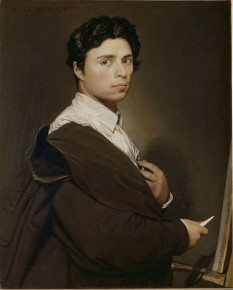 Jean Auguste Dominique Ingres (n. 29 august 1780 - d. 14 ianuarie 1867) pictor francez neoclasic - in imagine, Autoportret la vârsta de 24 de ani, 1804, dar revizuit în anii 1850), Musée Condé - foto: ro.wikipedia.org