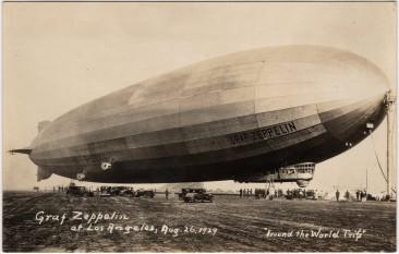 LZ-127 Graf Zeppelin a deschis în 1928 seria zborurilor transatlantice, parcurgând distanţa dintre Friedrichshafen din Germania şi Lakehurst în SUA în aproape 112 ore - foto - stiri.tvr.ro