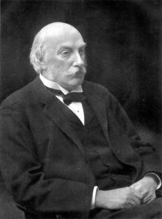 John William Strutt, lord Rayleigh (n. 12 noiembrie 1842, Langford Grove (Maldon), Essex, Anglia - d. 30 iunie 1919, Terlins Place, Witham, Essex, Anglia) fizician englez, laureat al Premiului Nobel pentru Fizică în 1904, pentru investigațiile sale asupra densităților celor mai importante gaze și pentru descoperirea argonului în legătură cu aceste studii - foto - ro.wikipedia.org