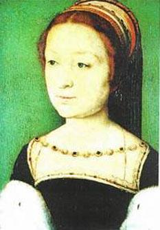 Magdalena de Valois (10 august 1520 – 7 iulie 1537) prințesă a Franței și regină a Scoției, fiind soția regelui Iacob al V-lea al Scoției -  foto - ro.wikipedia.org