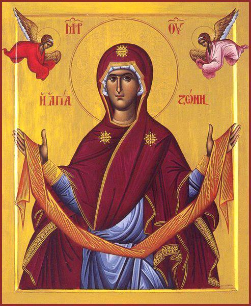 Așezarea în raclă a brâului Maicii Domnului. Prăznuirea sa de către Biserica Ortodoxă se face la data de 31 august - foto: doxologia.ro