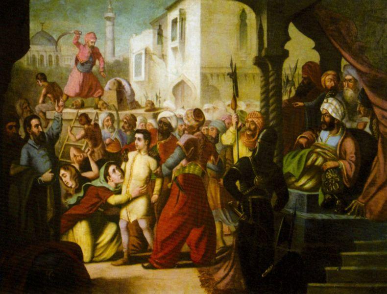 Martiriul brâncovenilor - de Constantin Lecca - foto preluat de pe ro.wikipedia.org