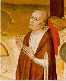Nicolaus Cusanus, numele latinizat al lui Nikolaus von Kues (Cusa), cu adevăratul nume Nikolaus Chrypffs sau Krebs, (n. 1401, Kues - azi Bernkastel-Kues/Germania - d. 11 august 1464, Todi/Umbria, Italia) învățat german, savant multilateral, filosof și teolog, jurist, astronom și matematician, considerat drept cea mai importantă personalitate în cultura europeană a secolului al XV-lea - foto - ro.wikipedia.org