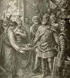 Odoacru (latină Flavius Odoacer) (n. 433 – d. 493) rege al Italiei în secolul al V-lea din 476 până la moartea sa - foto - cersipamantromanesc.wordpress.com
