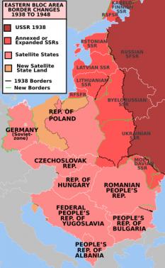 Harta Europei de Est. Modificările hotarelor 1938-1948, consecinţă a Pactului Ribbentrop - Molotov (Ribbentrop-Stalin) - foto - istoria.md