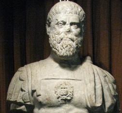 Bustul probabil al împăratului roman Publius Helvius Pertinax (Muzeul Național al Unirii Alba Iulia) - foto - ro.wikipedia.org
