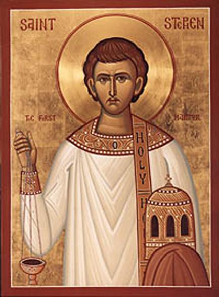 """Sfântul, slăvitul și mult lăudatul Apostol Ștefan Întâiul-mucenic (din grecește Στέφανος, """"coroană"""") a fost unul din primii convertiți creștini dintre evreii greci, unul din primii șapte diaconi hirotoniți de Apostoli și primul mucenic al Bisericii Ortodoxe. Biserica pomenește mucenicia Sfântului Ștefan în 27 decembrie și mutarea moaștelor lui 2 august, dar și în 15 iunie odată cu Sfinții Fortunat și Ahaic - foto: ro.orthodoxwiki.org"""