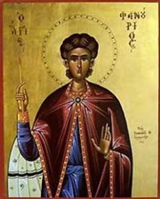 Sfantul Mucenic Fanurie - foto - calendar-ortodox.ro