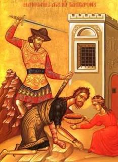 Taierea capului Sfantului Ioan Botezatorul - foto - calendar-ortodox.ro
