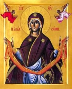 Acoperământul Maicii Domnului - foto: basilica.ro
