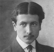 """Alain-Fournier, este pseudonimul lui Henri Alban Fournier (1886-1914), scriitor francez, mort la 27 de ani, autor al unui singur roman, """"Le Grand Meaulnes"""", roman poetic de factură simbolistă - foto (Alain-Fournier in 1905): ro.wikipedia.org"""