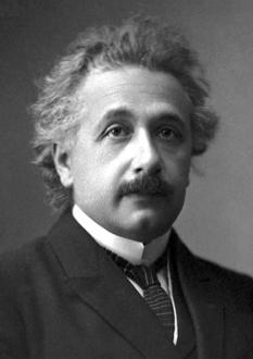 Albert Einstein (n. 14 martie 1879, Ulm – d. 18 aprilie 1955, Princeton), fizician teoretician de etnie evreiască, născut în Germania, apatrid din 1896, elvețian din 1899, emigrat în 1933 în SUA, naturalizat american în 1940, profesor universitar la Berlin și Princeton. A fost autorul teoriei relativității și unul dintre cei mai străluciți oameni de știință ai omenirii. În 1921 i s-a decernat Premiul Nobel pentru Fizică - foto: ro.wikipedia.org