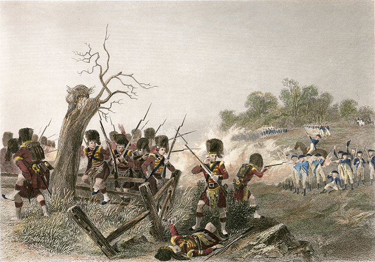 Battle of Harlem (16 septembrie 1776), J.R. Armytage, after Chappel - foto: mountvernon.org