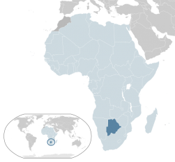 Amplasarea Botswanei -  foto: ro.wikipedia.org