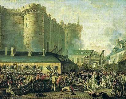 Căderea Bastiliei, eveniment ce a marcat inceputul Revoluției Franceze, s-a produs la Paris într-o zi de marți 14 iulie în anul 1789 - foto: ro.wikipedia.org