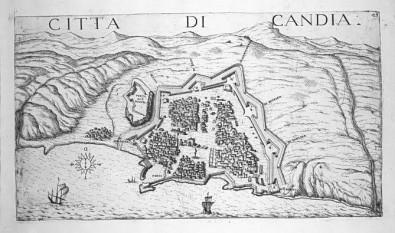 Harta cetatii Candia la 1651 - foto: cersipamantromanesc.wordpress.com