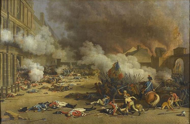 Cucerirea palatului Tuileries la 10 august 1792, de Jean Duplessis-Bertaux, muzeul palatului Versailles - foto: ro.wikipedia.org