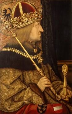 Frederic al III-lea (n. 21 septembrie 1415, Innsbruck - d. 19 august 1493, Linz) a fost ales Rege al Germaniei din 1440 și a fost încoronat Împărat al Sfântului Imperiu Roman în 1452 domnind până la moartea sa - foto - Portret de Hans Burgkmair, c. 1500 (Kunsthistorisches Museum, Viena): ro.wikipedia.org