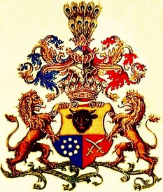 Stema baronilor Hurmuzaki din 1881 - foto: ro.wikipedia.org
