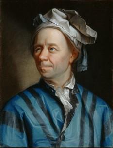 Leonhard Euler (n. 15 aprilie 1707, Basel, Elveția - d. 18 septembrie 1783, Sankt Petersburg, Rusia) matematician și fizician elvețian - foto (Portret al lui Leonhard Euler de Emanuel Handmann): ro.wikipedia.org