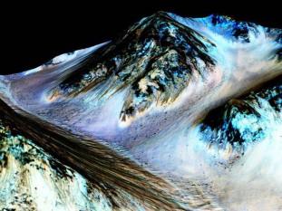 NASA anunţă că a găsit semne care indică prezenţa apei pe planeta Marte - foto: mediafax.ro