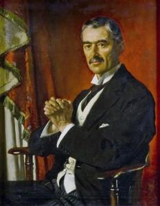 Arthur Neville Chamberlain (n. 18 martie 1869, Birmingham, Regatul Unit – d. 9 noiembrie 1940, Heckfield, Hampshire, Regatul Unit), politician britanic care a îndeplinit funcția de prim-ministru al Regatului Unit din partea Partidului Conservator între 1937 și 1940 - foto: ro.wikipedia.org