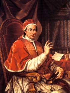 Papa Clement al XIV-lea (Gian Vincenzo Antonio Ganganelli), papă al Romei care s-a născut la 31 octombrie 1705 și a decedat la 22 septembrie 1774 foto: ro.wikipedia.org