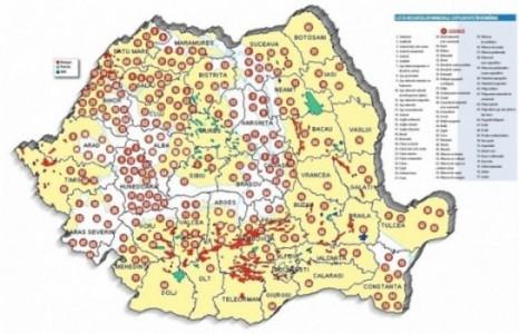 Harta bogăţiilor din subsolul României - foto: zf.ro