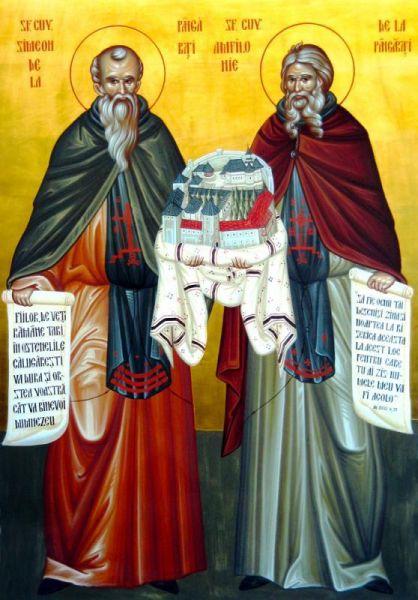Sfinții Cuvioși Simeon și Amfilohie de la Pângărați. Prăznuirea lor de către Biserica Ortodoxă se face la data de 7 septembrie - foto: doxologia.ro