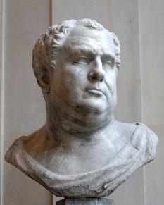 Aulus Vitellius Germanicus (24 septembrie 15 - 22 decembrie 69), împărat roman din 17 aprilie 69 până în 22 decembrie 69, unul din împărații aparținând Anului celor patru împărați - foto: ro.wikipedia.org