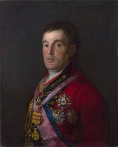 Arthur Wellesley, Primul Duce de Wellington, (n. 1 mai 1769 – d. 14 septembrie 1852) ofițer și om de stat britanic, născut în Irlanda și care astăzi este recunoscut ca fiind una dintre personalitățile de prim rang pe plan militar din epoca modernă - foto (Portrait of the Duke of Wellington by Francisco Goya, 1812–14.): en.wikipedia.org