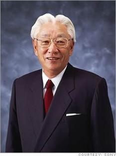 Morita Akio (n. 26 ianuarie 1921, Nagoya, Japonia, d. 3 octombrie 1999, Tokyo), antreprenor japonez. Împreună cu Ibuka Masaru fondează concernul Sony - foto: trilateral.org