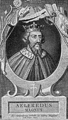 Alfred cel Mare (c. 849 – 26 octombrie 899), rege anglo-saxon al regatului Wessex din 871 pînă în 899 - foto: compendium.ro