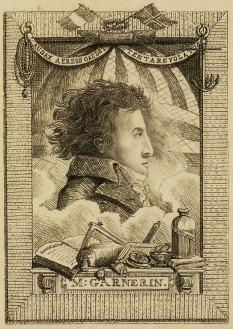 André-Jacques Garnerin (n. 31 ianuarie 1769 - d. 18 august 1823, (54 ani)), aeronaut francez și primul parașutist din lume. Este soțul lui Jeanne-Genevieve Lyabross (1775-1847). La 22 octombrie 1797 a efectuat în premieră mondială o săritură cu parașuta dintr-un balon - foto: ro.wikipedia.org