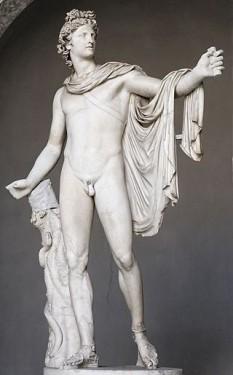 Apollo sau Apolo  este, în mitologia greacă și în mitologia romană, zeul zilei, al luminii și al artelor, protector al poeziei și al muzicii, conducătorul corului muzelor, personificare a Soarelui. Era numit și Phoebus-Apollo - foto: ro.wikipedia.org