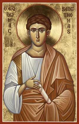 Sfântul, slăvitul și mult lăudatul Apostol Toma este unul din Sfinții Doisprezece Apostoli ai Mântuitorului. El este prăznuit în 6 octombrie și în 30 iunie la Soborul Slăviților și Drept-lăudaților Doisprezece Apostoli ai lui Hristos - foto: ro.orthodoxwiki.org
