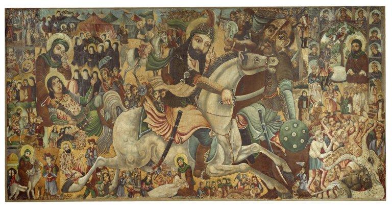 Bătălia de la Karbala a avut loc în luna Muharram în a 10-a zi, anul 61 d.Hr. după calendarul musulman sau 10 octombrie 680 d.Hr. după calendarul creștin. Situat în Irakul de astăzi, acest oraș reprezintă locul de pelerinaj al șiiților în comemorarea martirului Husayn ibn 'Ali, fiul celui de-al patrulea calif, rudă a profetului Mahomed. Bătălia de la Karbala a avut loc între Husayn ibn 'Ali și fiul califul Muʿāwiya, Yazid I, pe care Husayn a refuzat să-l recunoască drept calif. Această luptă a sfârsit prin uciderea lui Husayn și a celor ce au luptat alături de el, rămânând în istorie si reprezentând un eveniment ce va fi celebrat an de an de către adepții șiiți cât și de sunniți. Cele doua facțiuni celebrează același eveniment însa in mod diferit și anume: sunniții comemorează sacrificiul făcut de Husayn, iar șiiții îl comemorează, dar într-un mod aparte, plângând, lovindu-se în piept și chiar autoflagelându-se - foto: ro.wikipedia.org
