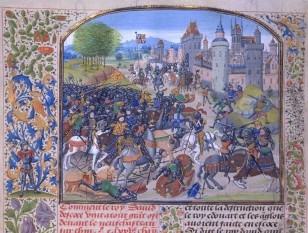 The Battle of Neville's Cross took place to the west of Durham, England, on 17 October 1346. The culmination of a Scottish invasion of northern England, the battle ended with the rout of the Scots and the capture of their king, David II of Scotland - foto: en.wikipedia.org
