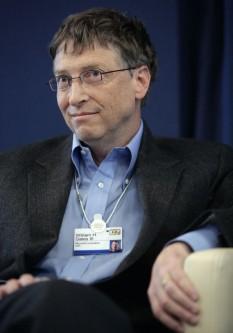 William Henry Gates al III-lea (n. 28 octombrie 1955), cunoscut mai ales ca Bill Gates, este co-fondatorul (împreună cu Paul Allen) al Microsoft Corporation. Este de asemenea și unul dintre cei mai bogați oameni din lume, cu o avere estimată la $79 miliarde foto: ro.wikipedia.org