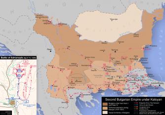 Bulgaria sub domnia lui Caloian (1197-1207) - foto: ro.wikipedia.org